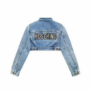 Moschino x H&M denim jacket cropped